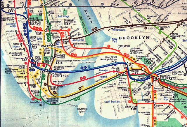 Subway System Map Nyc
