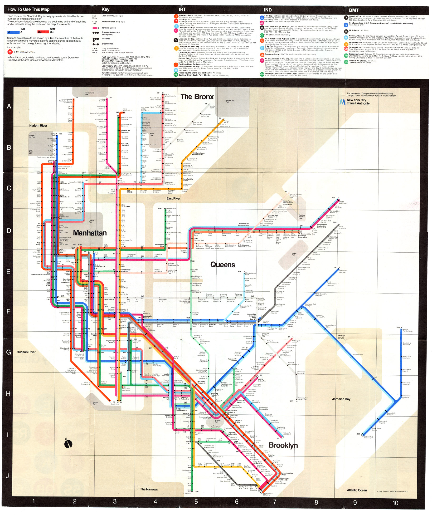 vignellis 1972 subway map image courtesy of nycsubwayorg