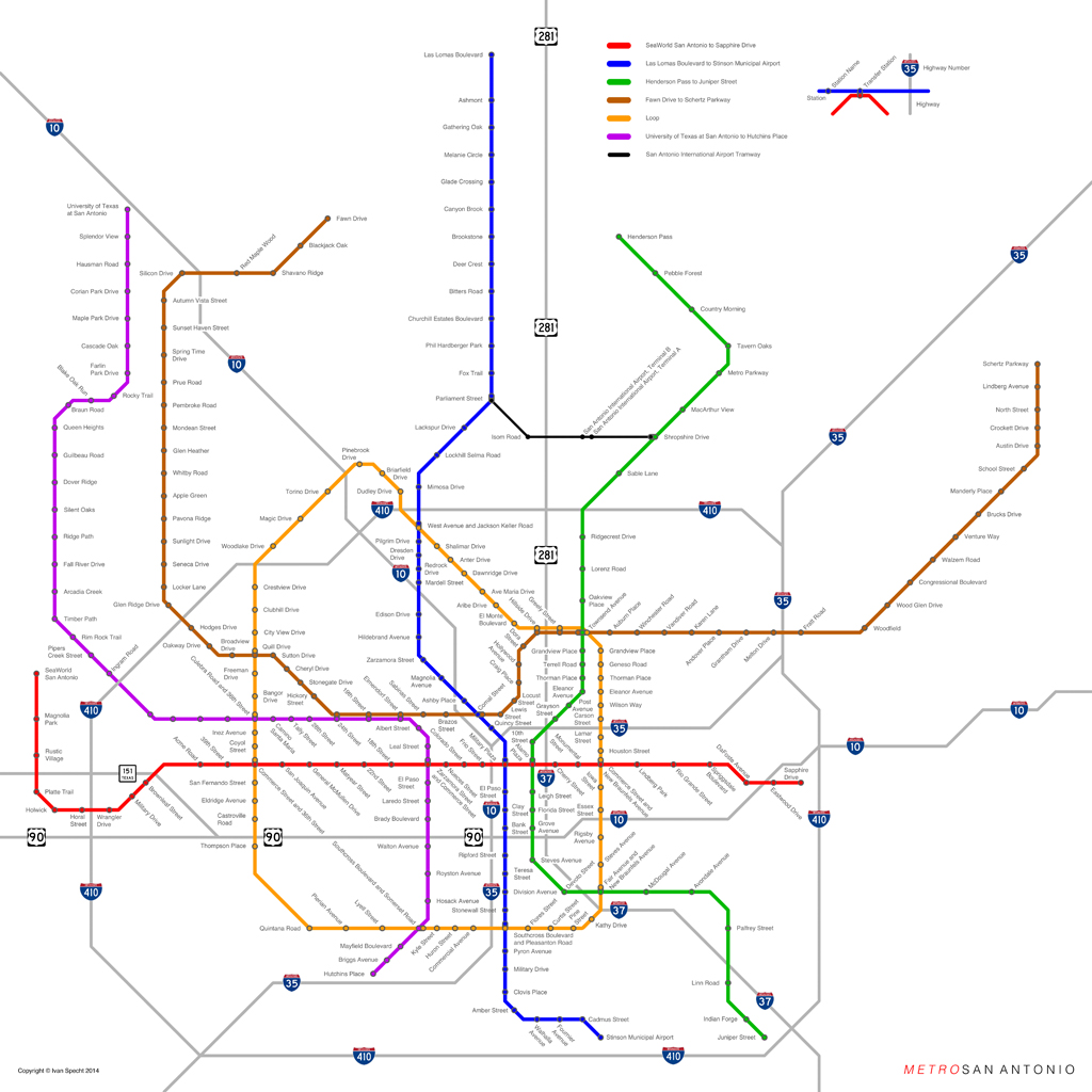 Austin Texas Subway Map.Subway Maps For Cities Without Subways Urban Omnibus