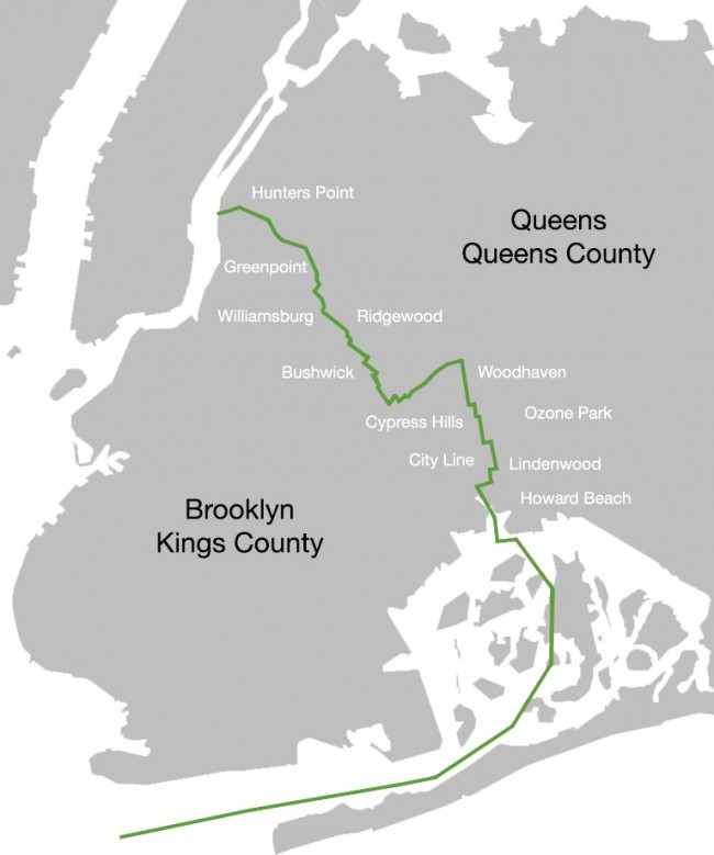 map of brooklyn queens Borderlands Traveling The Brooklyn Queens Divide Urban Omnibus map of brooklyn queens