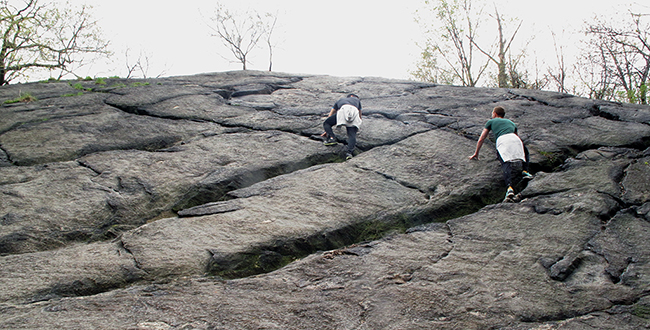 Rock climbers near the Blockhouse, 2015 | Photo by Marie Warsh