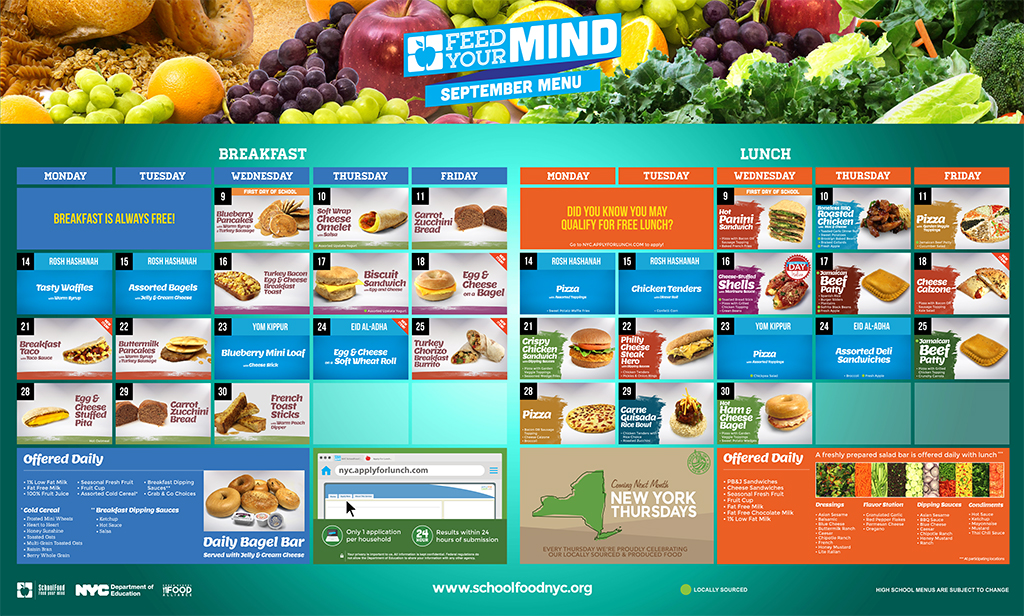 "September high school lunch menu for NYC schools | Photo via <a href=""http://www.schoolfoodnyc.org/public/PDF_Handler.ashx?t=mv&id=3613&name=High+School+Lunch+Menu"">SchoolFoodNYC</a>"