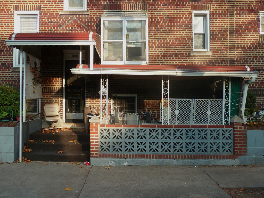 Sidewalk Dugout, Jackson Heights, 2014