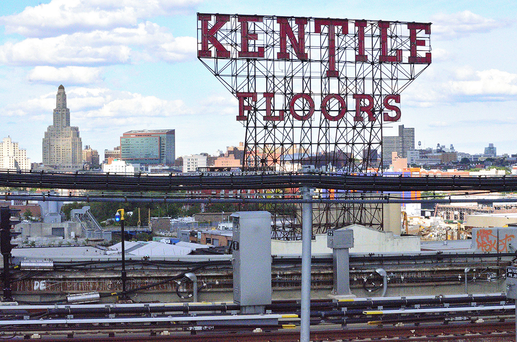 The Kentile Floors sign in 2013 | Photo by Steven Pisano, via Flickr