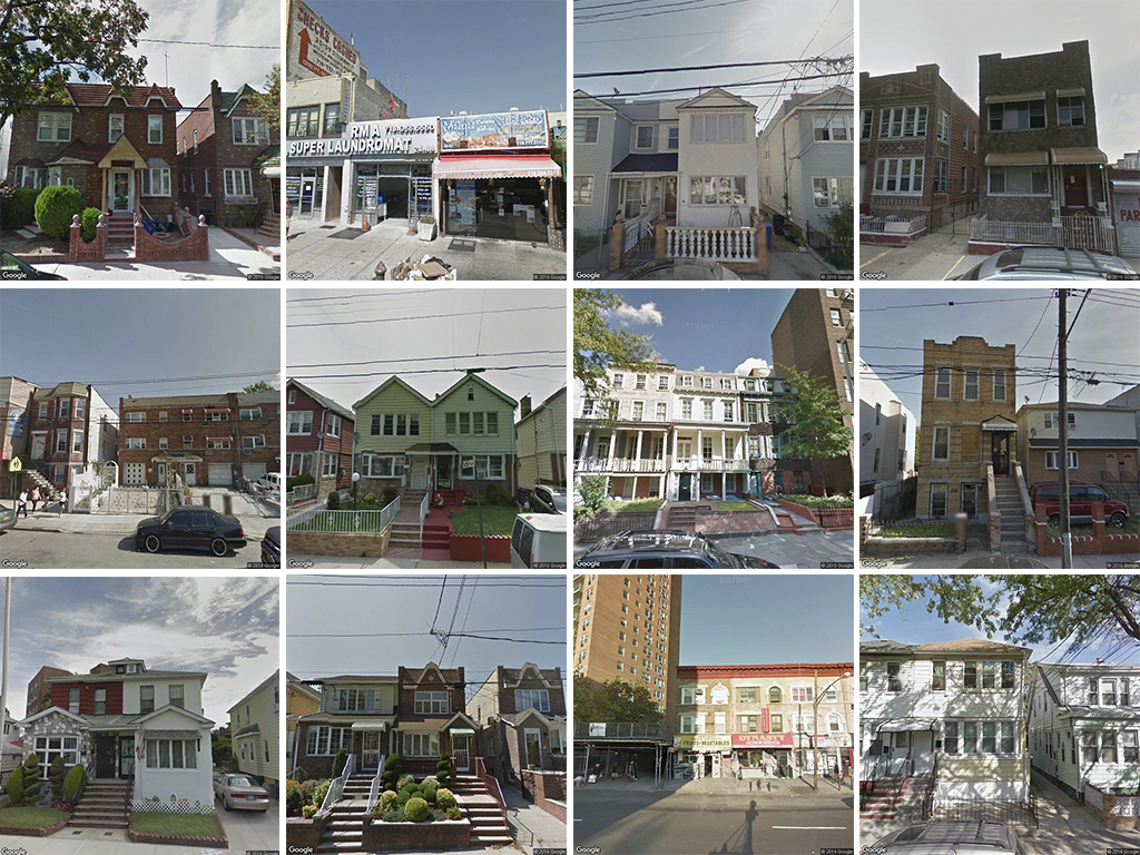 4s: A random selection of properties that scored four; while occasionally a row house appears in this category, usually the buildings are cousins of true row houses | via Google