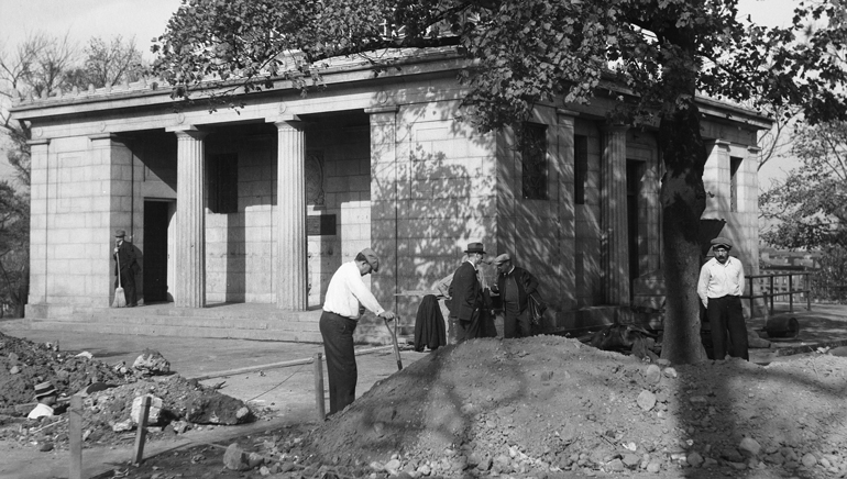 A comfort station in Fort Greene Park, Brooklyn, 1936. Under Parks Commissioner Robert Moses, the City of New York significantly increased the number of public bathrooms. 145 comfort stations around the city were renovated in 1934 alone. Photo courtesy of NYC Parks Photo Archive