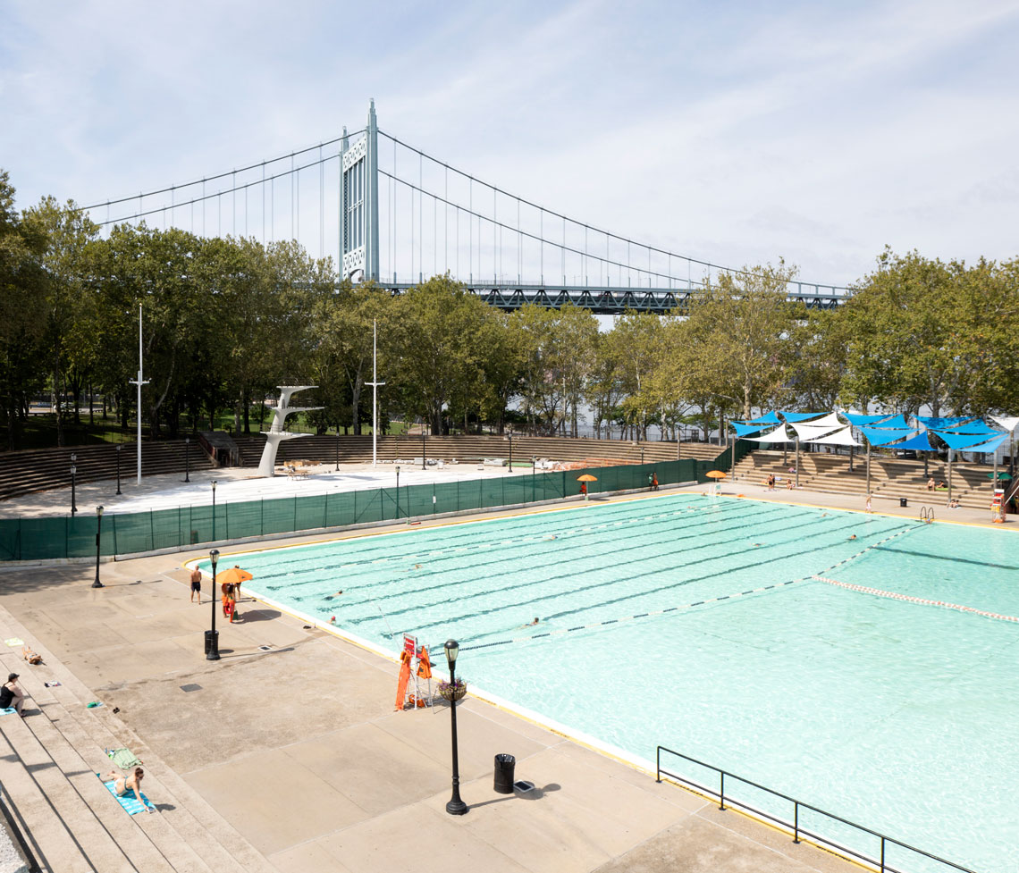The pool was designated a New York City landmark in 2006 and renovated in 2019. Photos by Anna Morgowicz